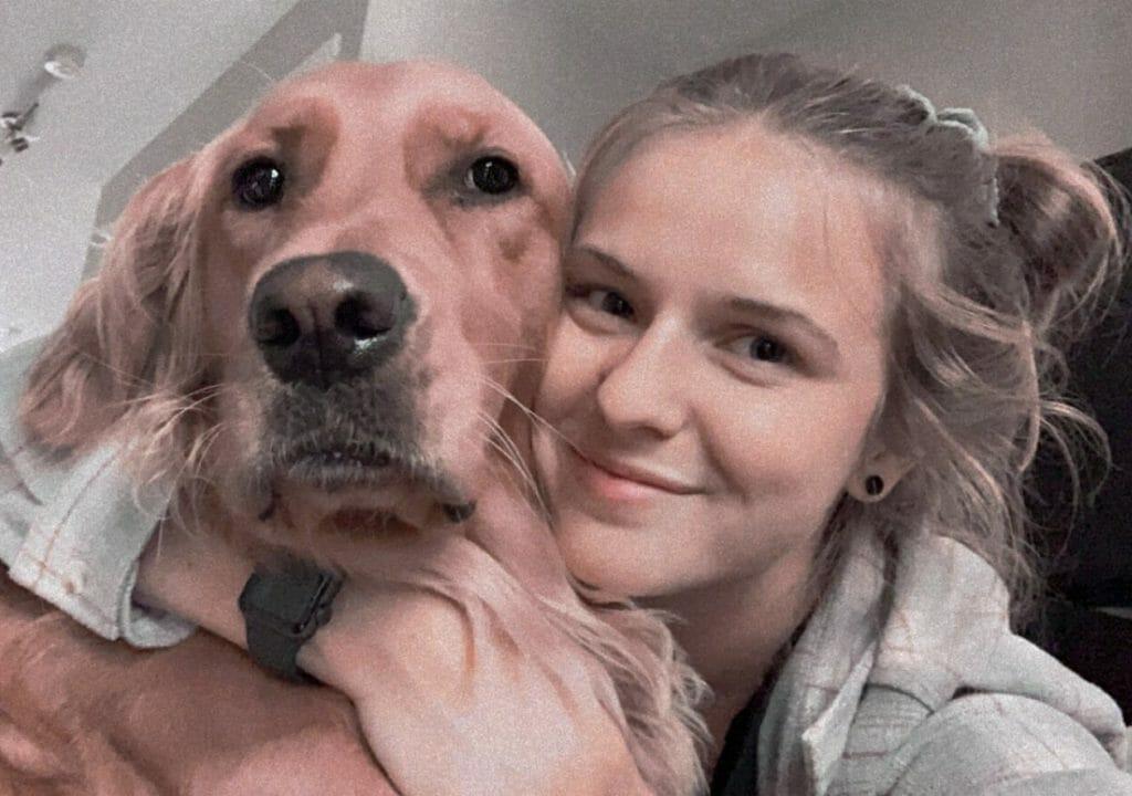 Tyra with dog